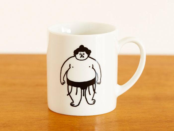 おはぎやまマグカップ きをつけ