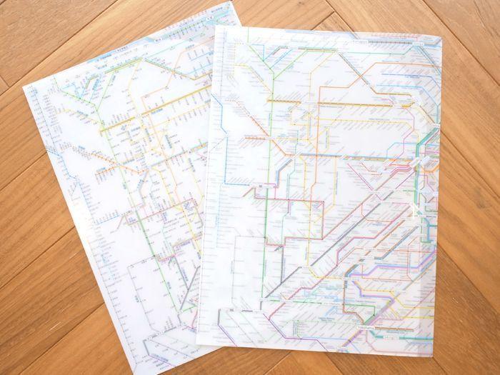 鉄道路線図クリアファイル