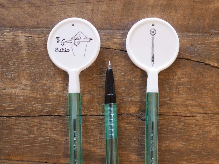 オリジナル ボールペン ペロ ホワイト