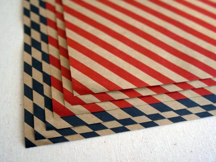 36オリジナル 縞々包装紙