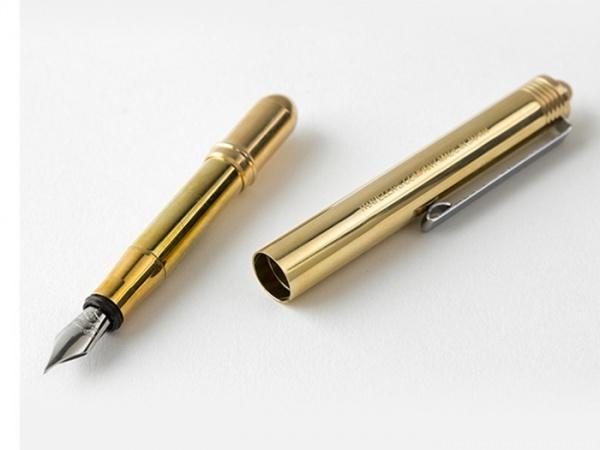 真鍮の万年筆 無垢